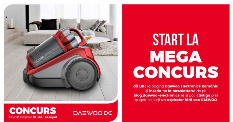 Castiga un aspirator Daewoo: Ajutorul tau la curatenie