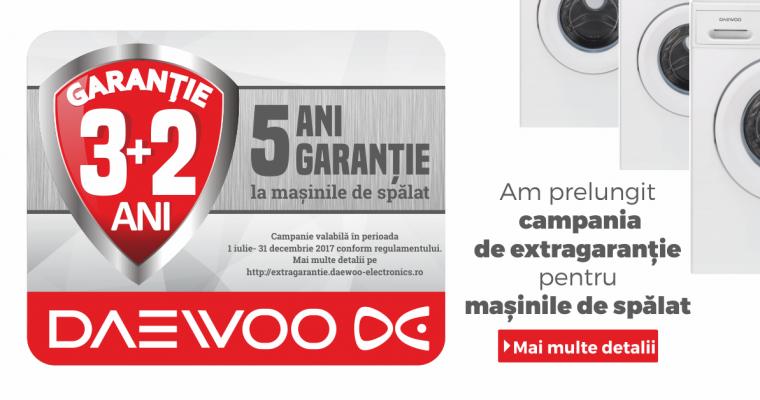 Prelungim campania de 5 ani Garanție la mașinile de spălat