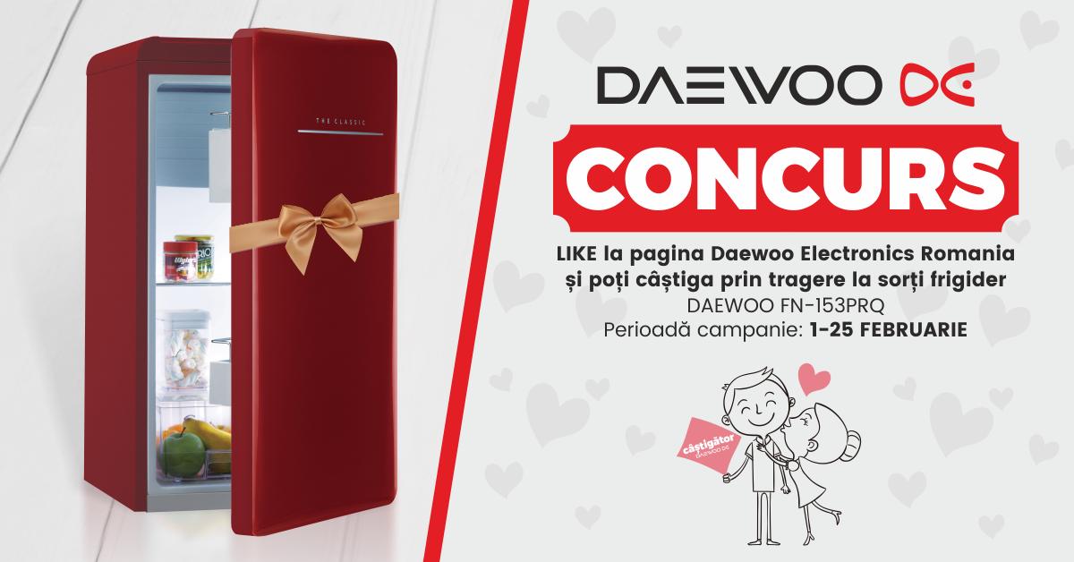 CONCURS Luna Îndrăgostiților Daewoo Electronics România